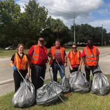 Adopt-A-Road Crew after Cleaning