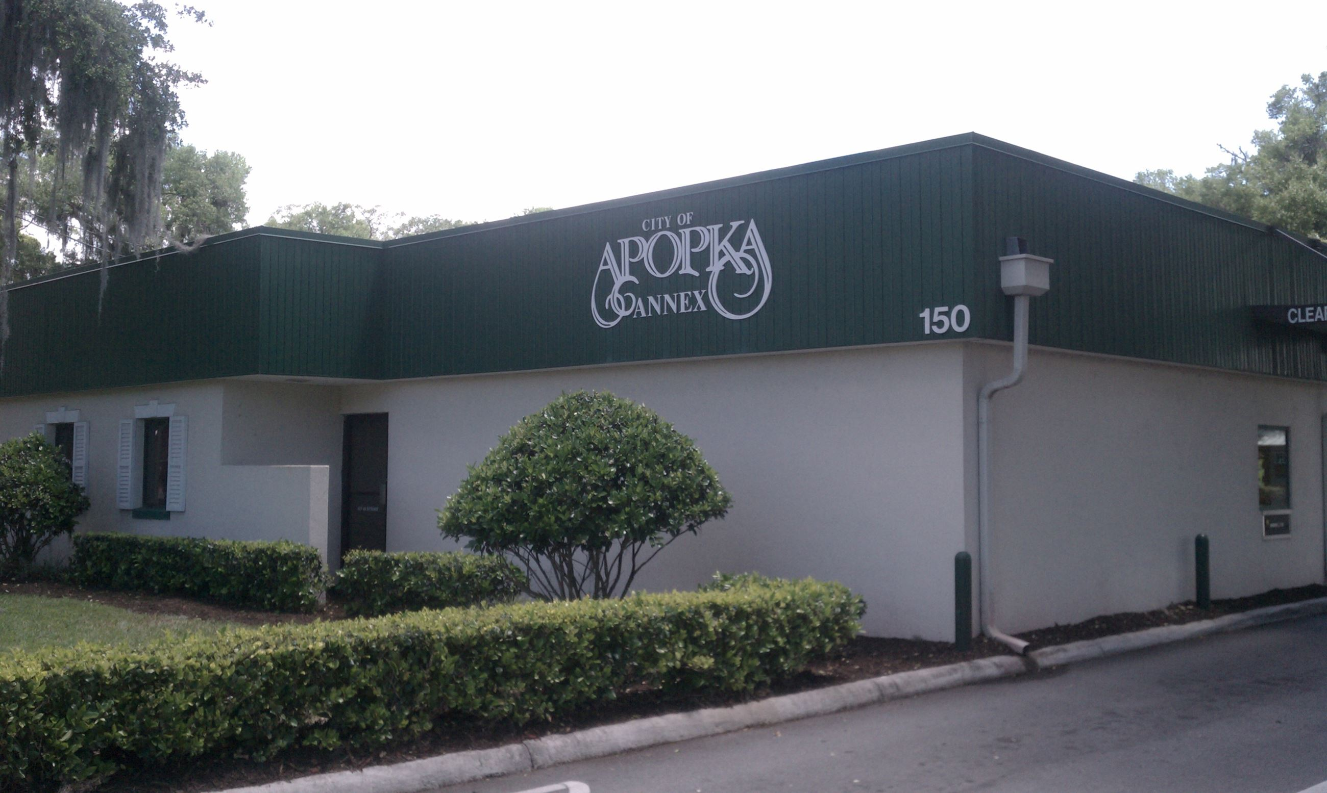 An entrance to the City Hall Annex building of Apopka