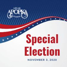 City of Apopka Speical Election November 3 2020. Banner art with stars.