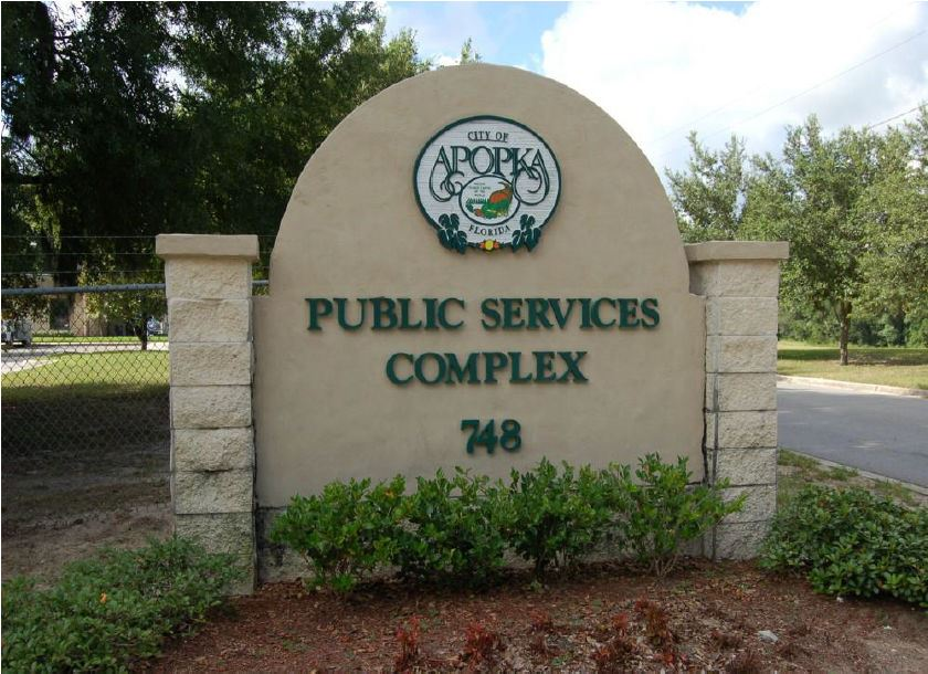 Public Services Entrance Sign