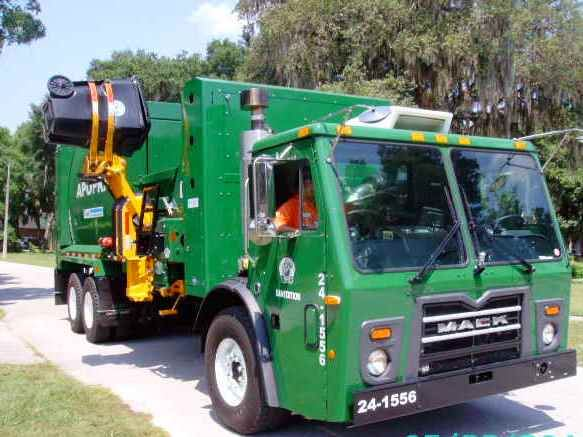 Side Load Garbage Truck